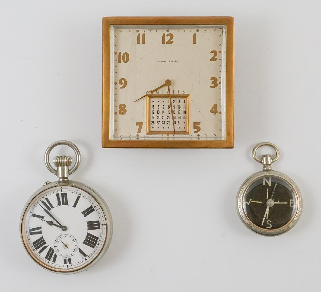 Car Clock, Desk Clock and Compass