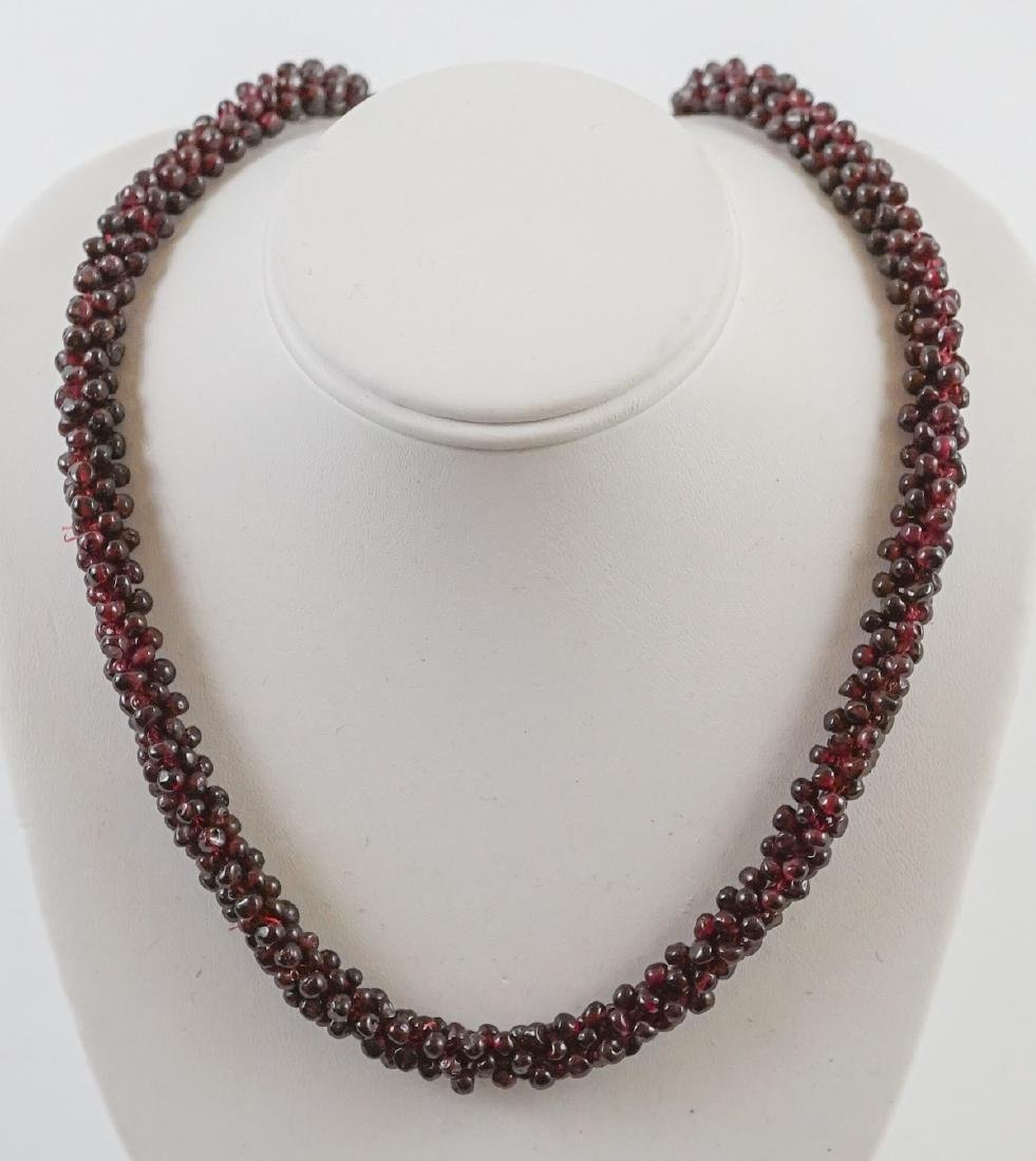 Vintage Garnet Beaded Necklace