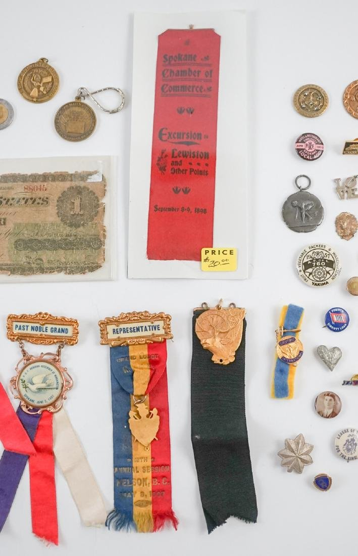 Estate Collection: Pins, Medals and Buttons - 5