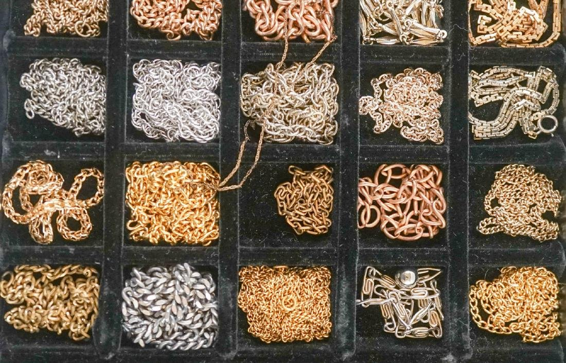 Large Group of Watch Chains, Slides and More - 3