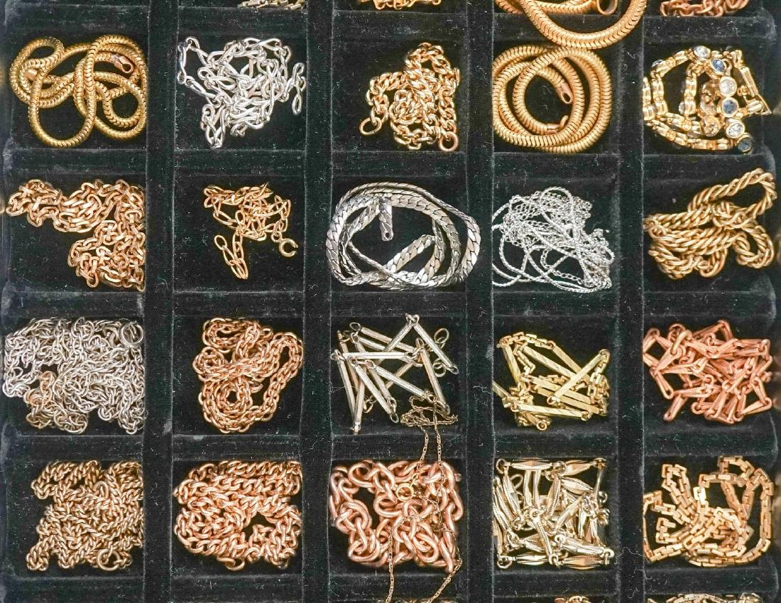 Large Group of Watch Chains, Slides and More - 4