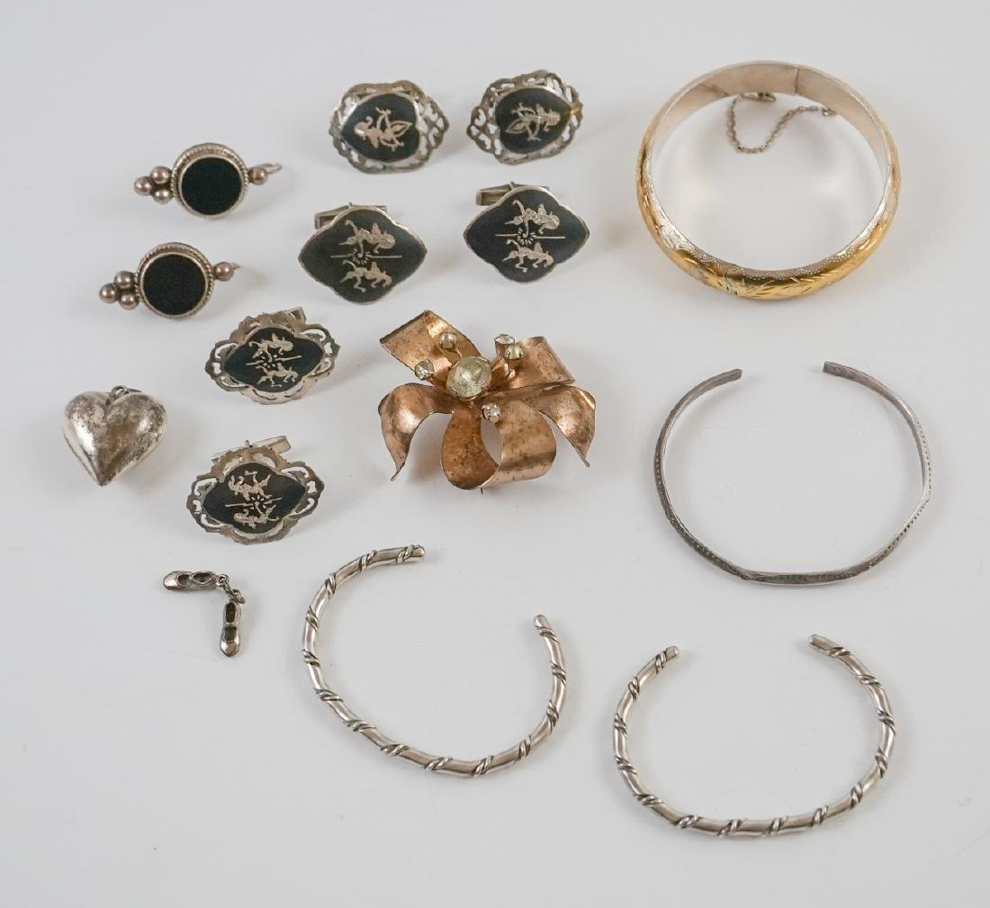Group of Vintage and Ethnic Sterling Jewelry