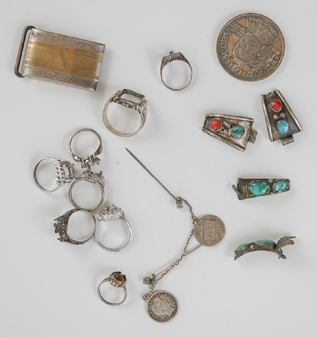 Group of Vintage and Ethnic Sterling Jewelry - 9