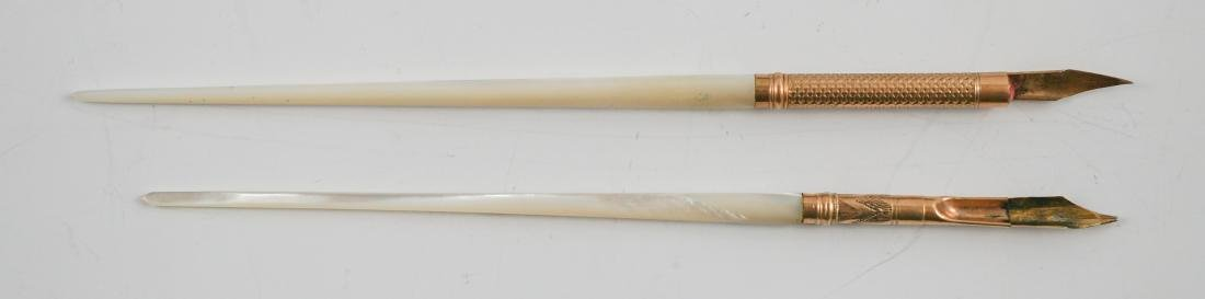 Eight Antique Mother of Pearl Pens - 3
