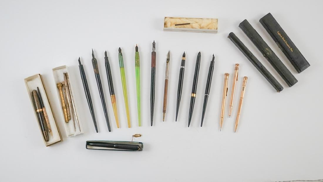 A Group of Vintage and Antique Fountain Pens