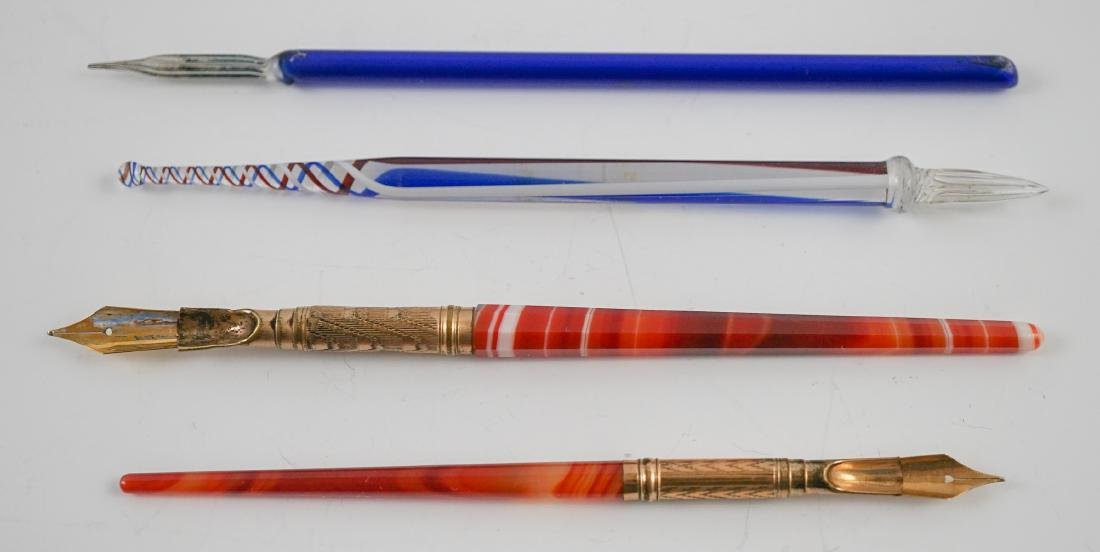 Agate and Art Glass Pens