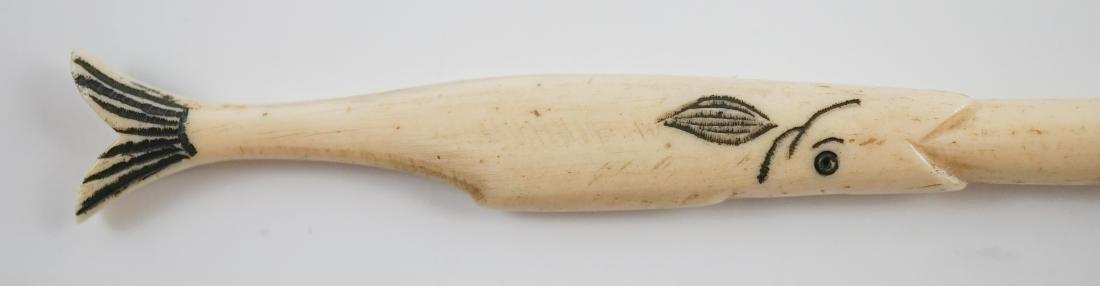 Native American Scrimshaw Writing Pen - 6