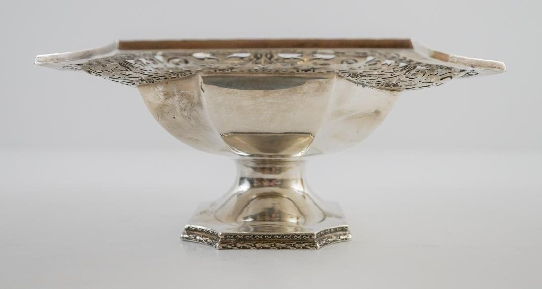 Ornate Sterling Pierced Footed Centerpiece Bowl - 10
