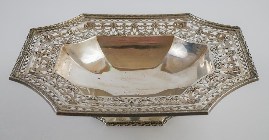 Ornate Sterling Pierced Footed Centerpiece Bowl
