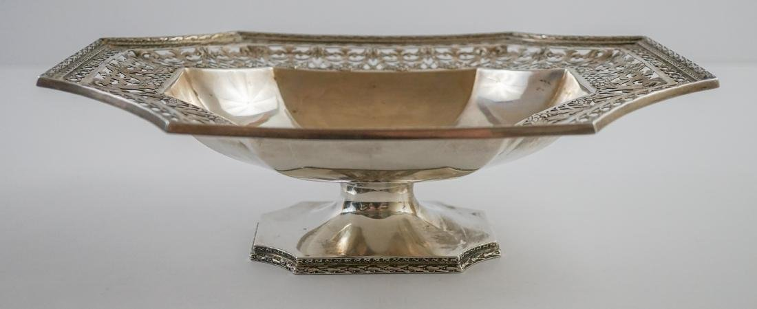 Ornate Sterling Pierced Footed Centerpiece Bowl - 2