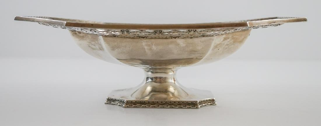 Ornate Sterling Pierced Footed Centerpiece Bowl - 9
