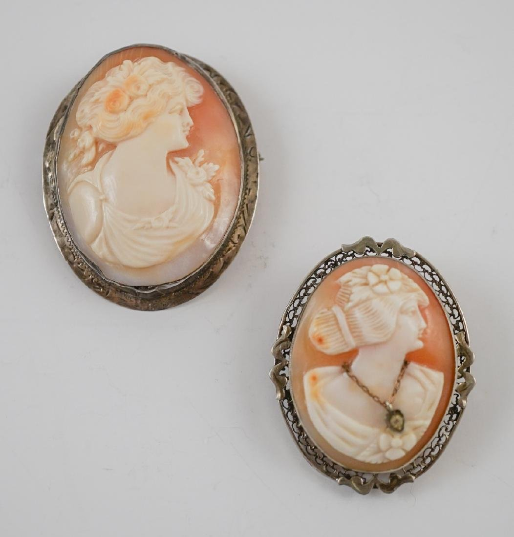 Two Antique Cameo Brooches