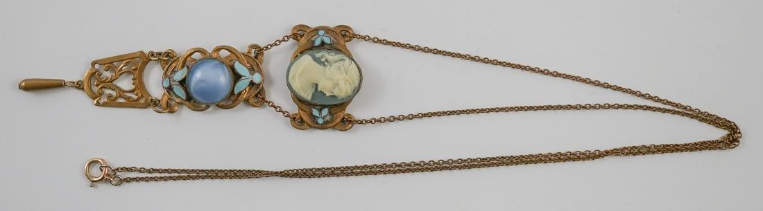 Antique Cameo Lavalier Necklace - 10