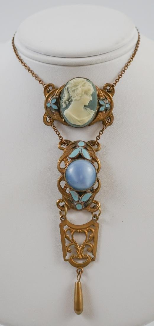 Antique Cameo Lavalier Necklace