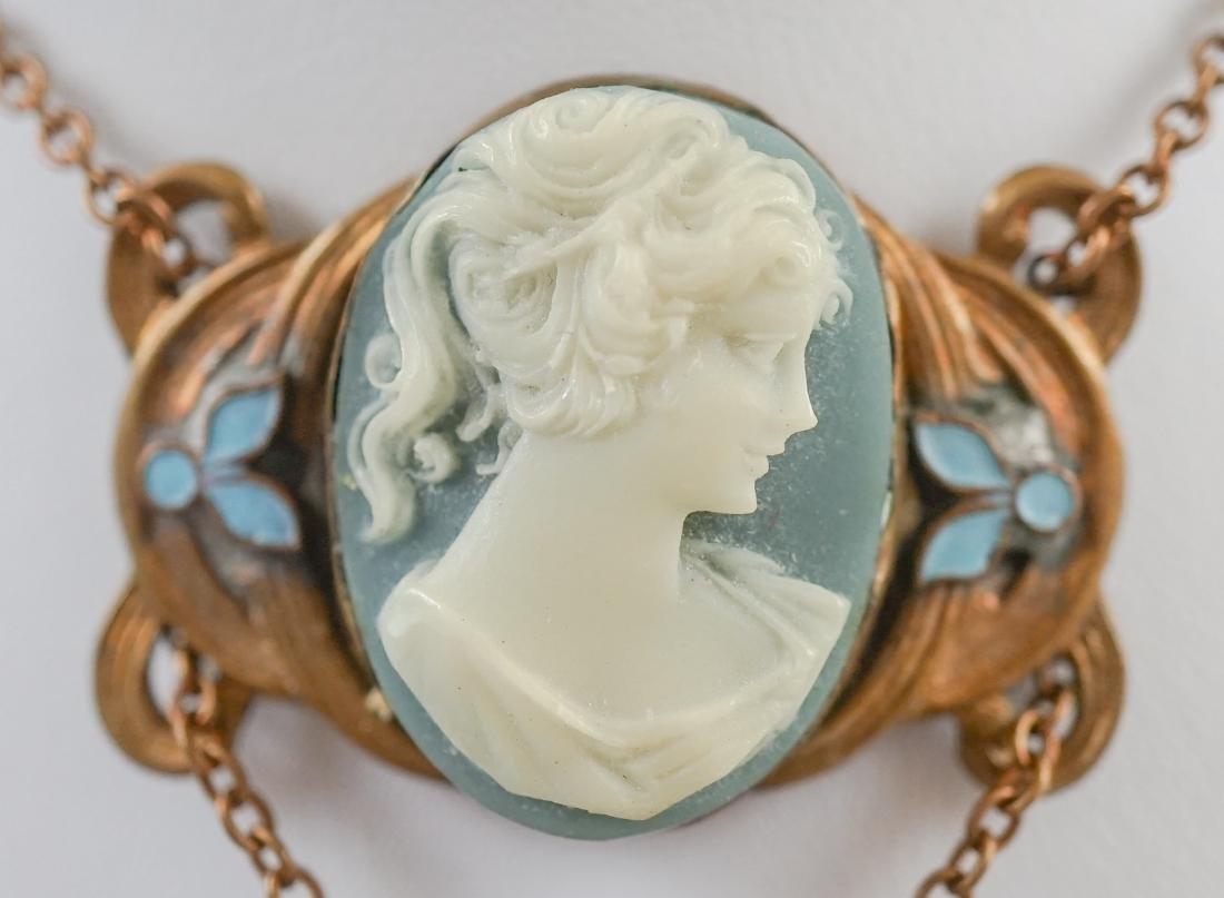 Antique Cameo Lavalier Necklace - 2