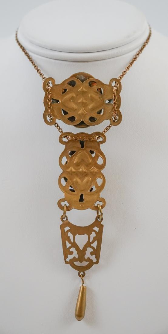 Antique Cameo Lavalier Necklace - 5
