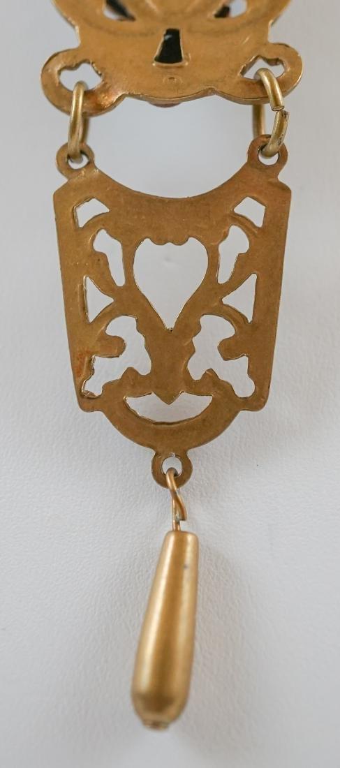 Antique Cameo Lavalier Necklace - 8