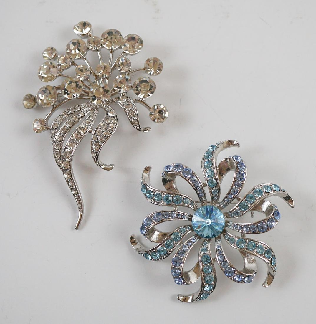 Two Signed Costume Brooches