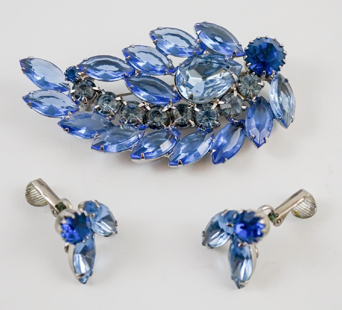 Weiss Brooch and Earrings