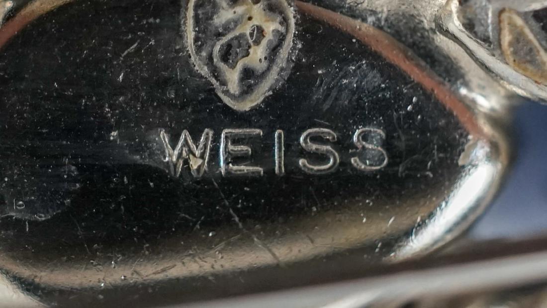 Weiss Brooch and Earrings - 4