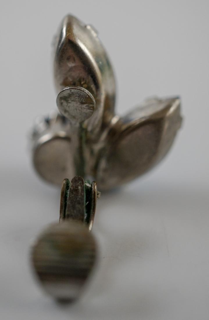 Weiss Brooch and Earrings - 8