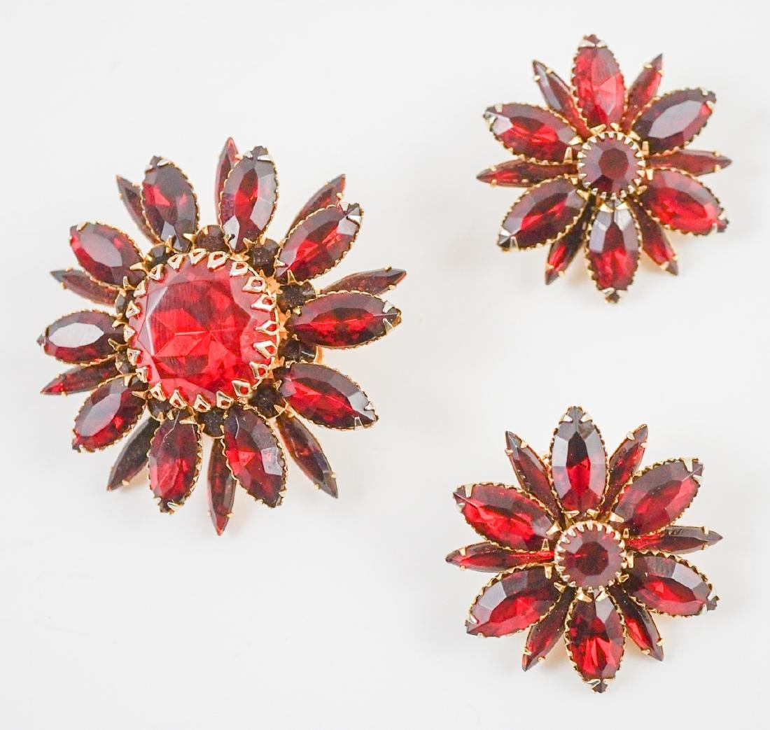 Judy Lee Pin and Earrings