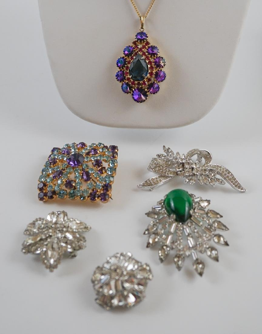 Six Vintage Costume Pins and Brooches