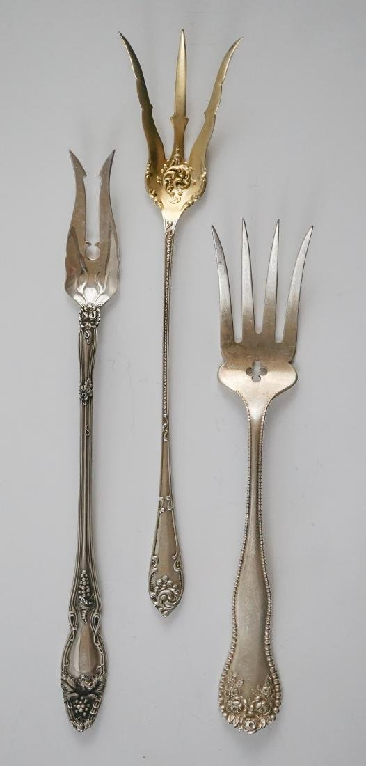 A Group of Fancy Sterling Serving Pieces, 7.2 ozt - 10