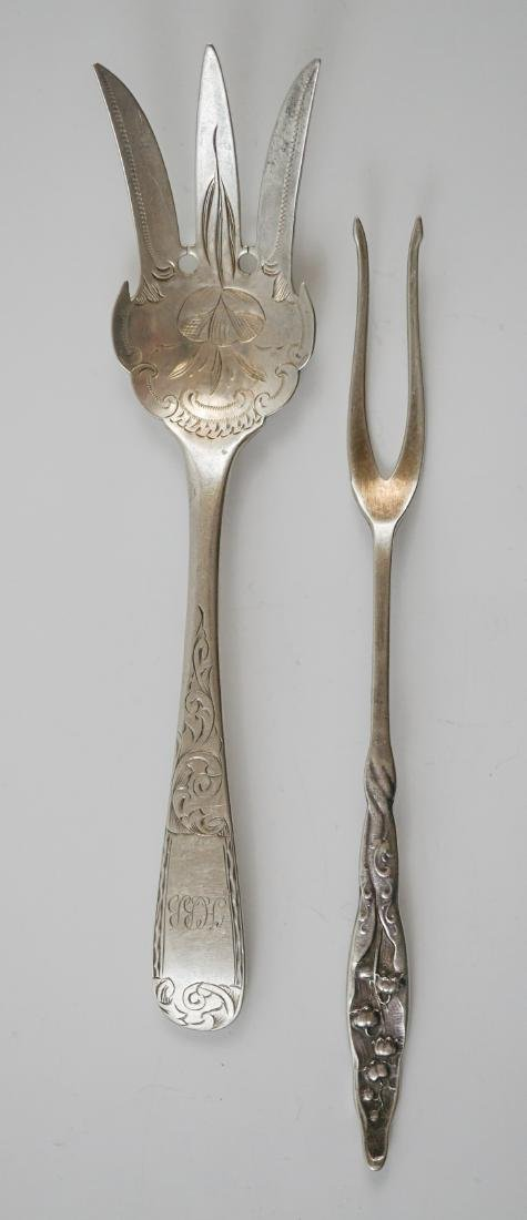 A Group of Fancy Sterling Serving Pieces, 7.2 ozt - 8