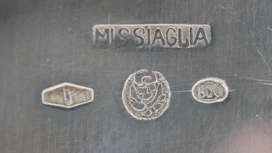 Missiaglia .800 Silver Sugar and Creamer - 7