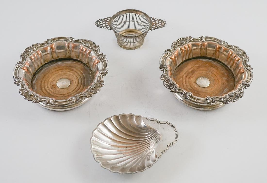 Silver Plate Wine Coasters and more