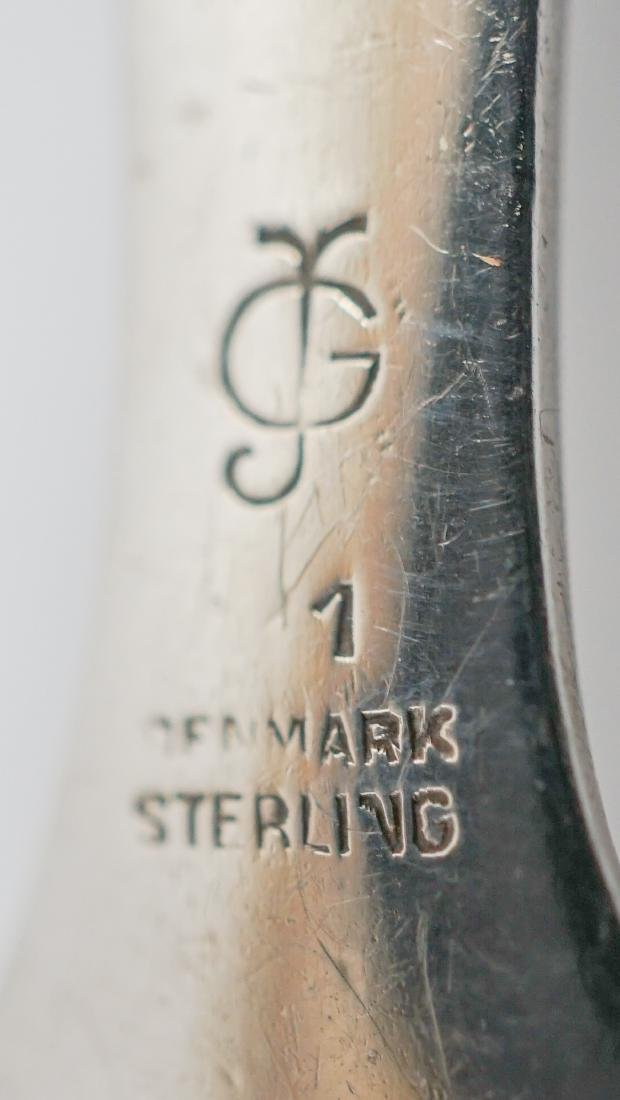 George Jensen Blossom Sterling Serving Spoon - 6