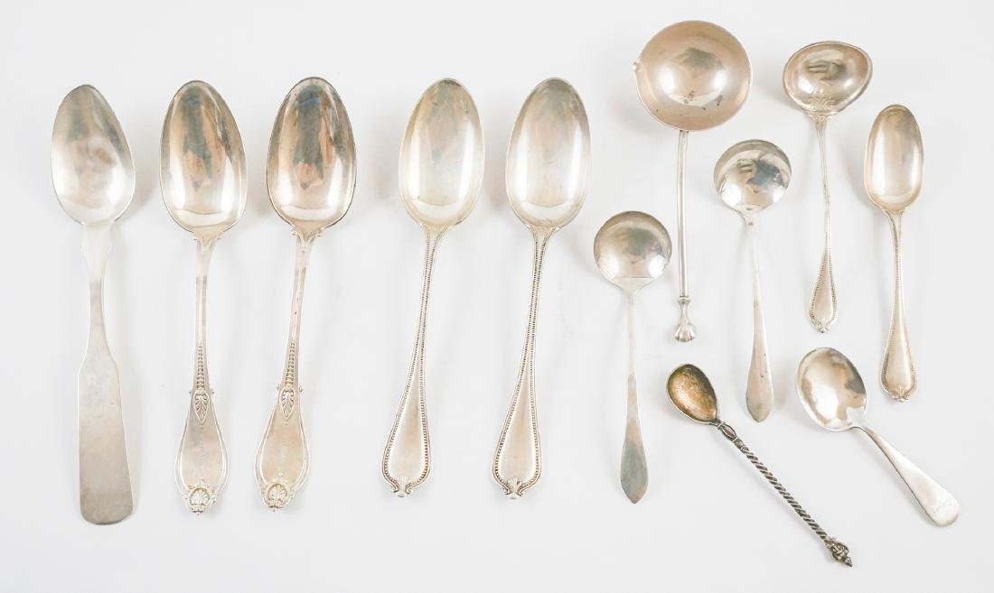 A Group of Sterling Spoons, 13.55 Troy Ounces