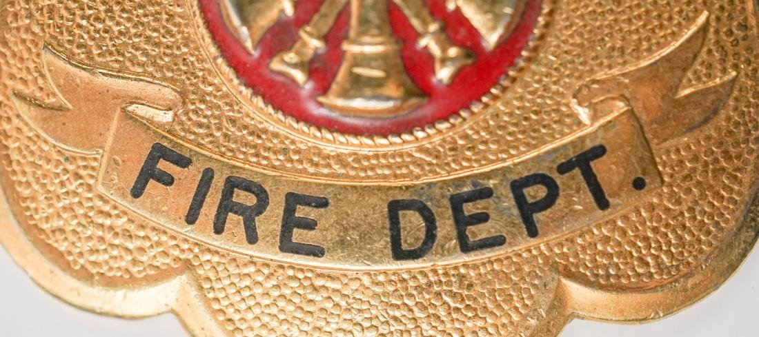 Vintage White Pine Fire Department Badge - 2