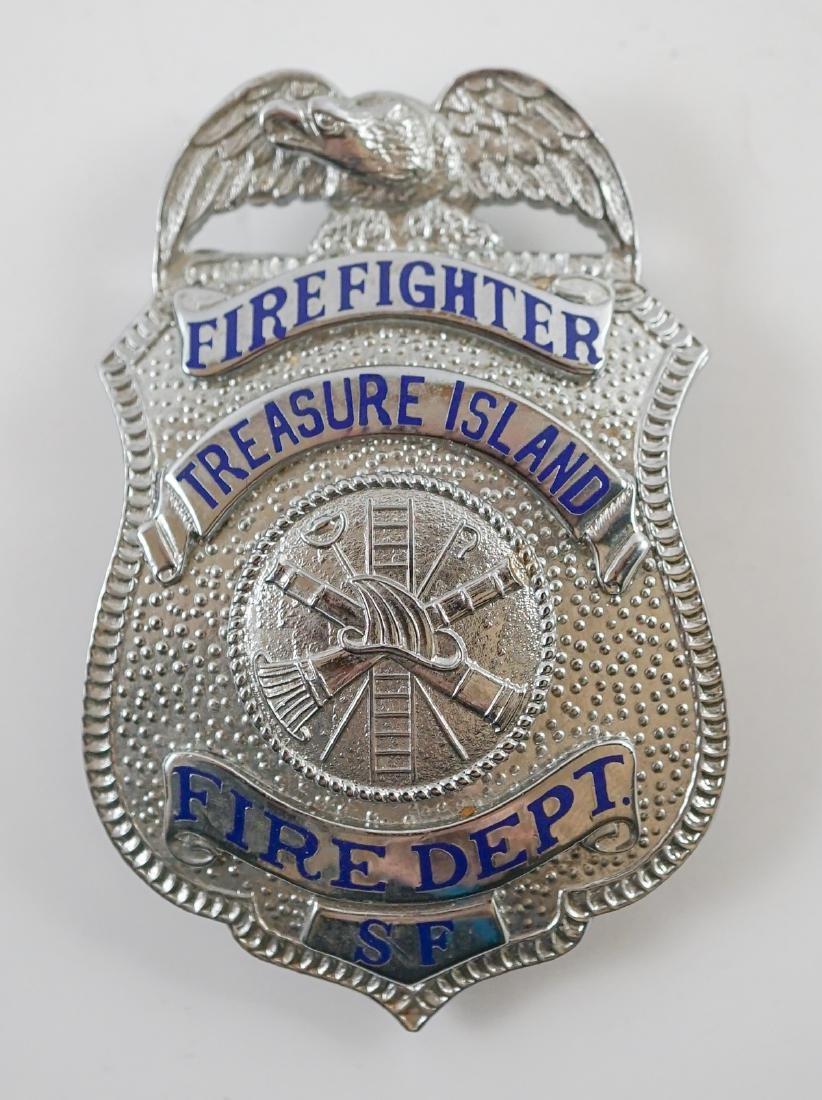 Vintage Treasure Island (San Francisco) Fire Badge