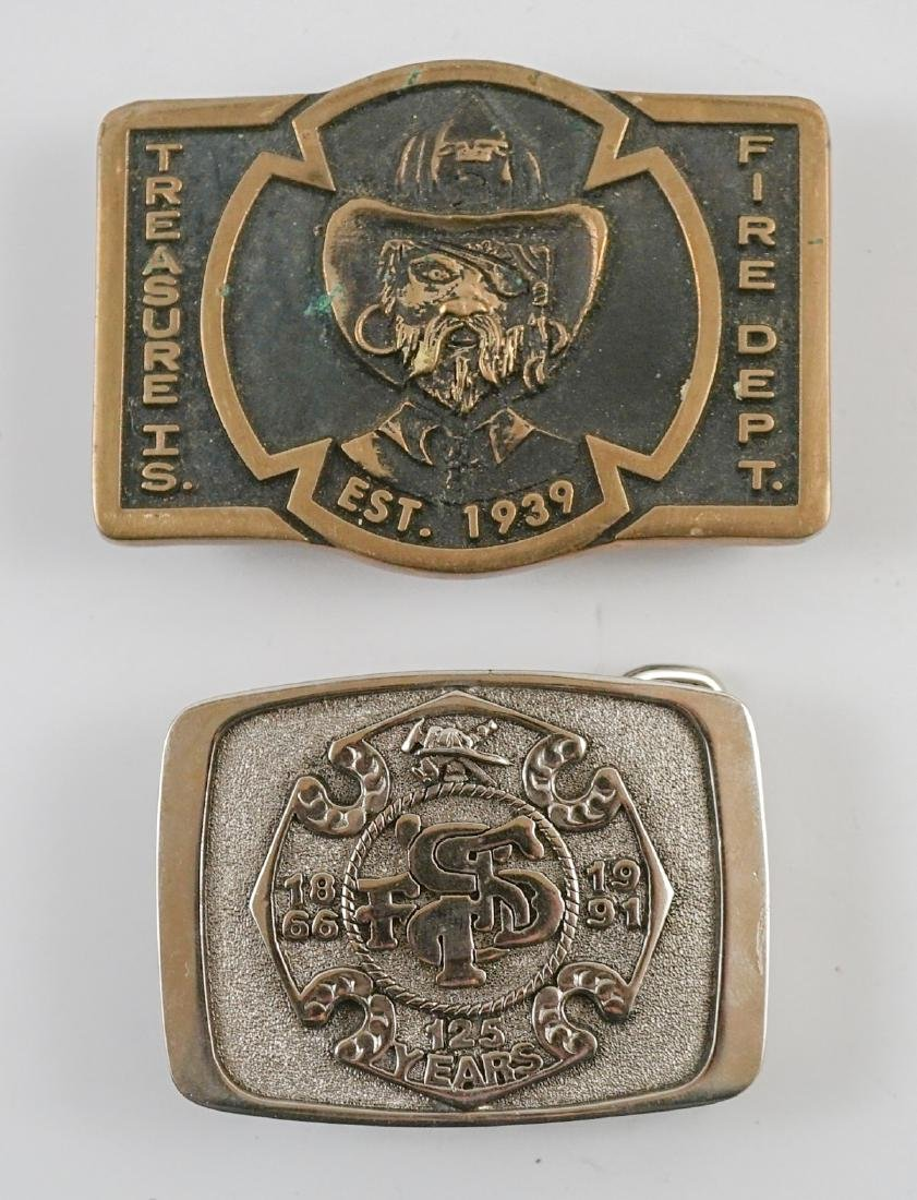 Two Treasure Island Fire Department Buckles