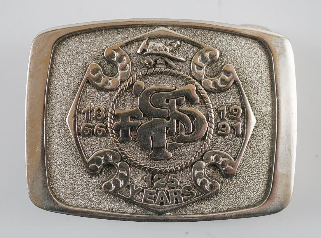 Two Treasure Island Fire Department Buckles - 2