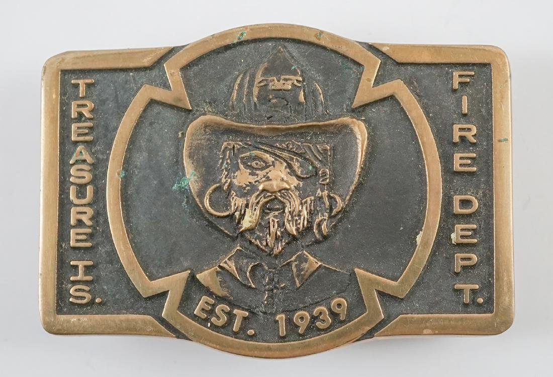 Two Treasure Island Fire Department Buckles - 6