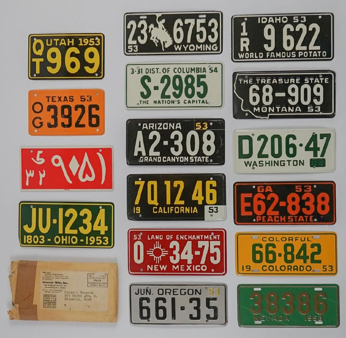 Group of [16] General Mills Bicycle Plates