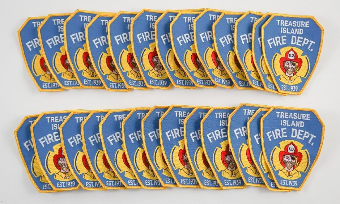 Group of [26] Treasure Island Fire Dept. Patches