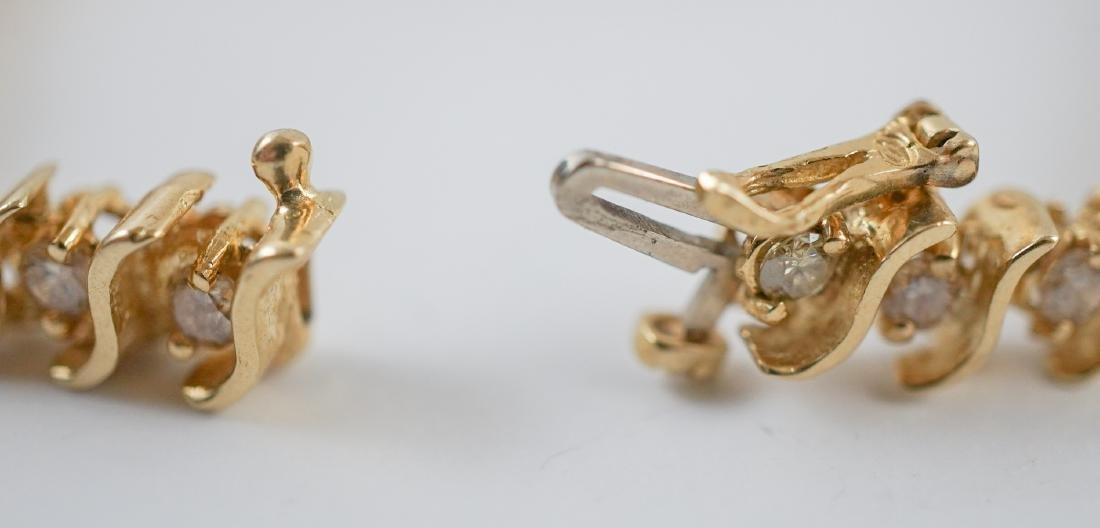 14K Gold and Diamond Tennis Bracelet - 4
