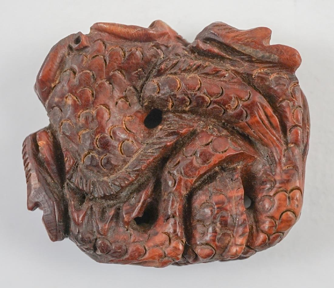 Ethnic Carved Jade, Amber, Stone and Wood Items - 7