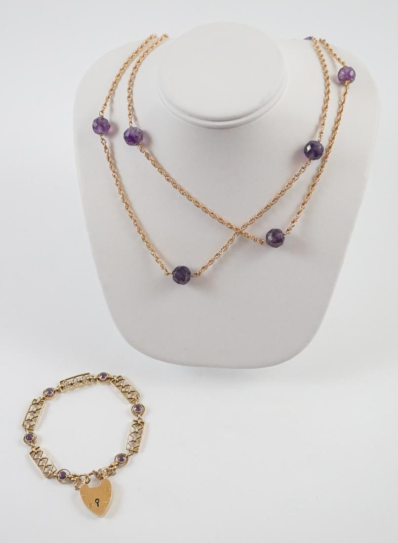 15k Bracelet and 14k Necklace