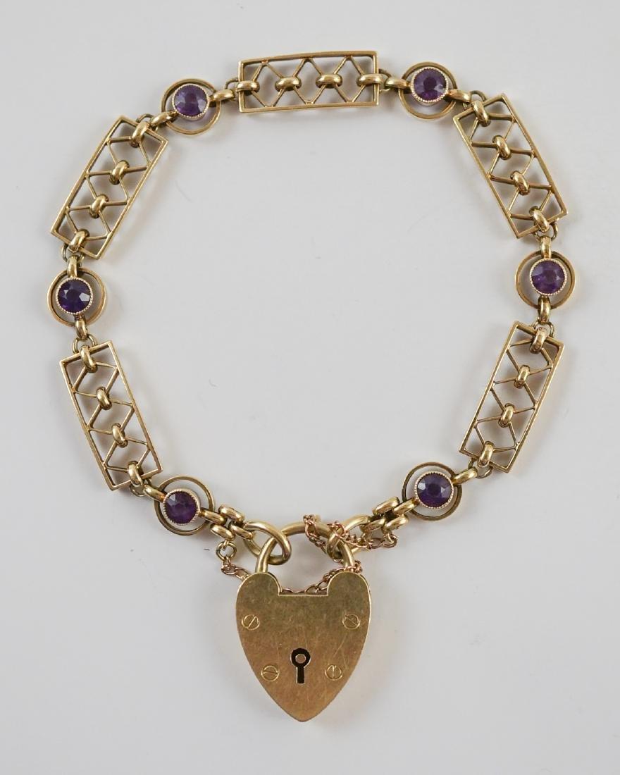 15k Bracelet and 14k Necklace - 2