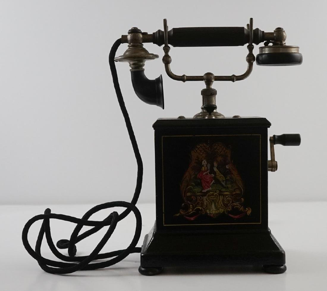 JYDSK Telefon Aktieselskab Vintage Crank Telephone