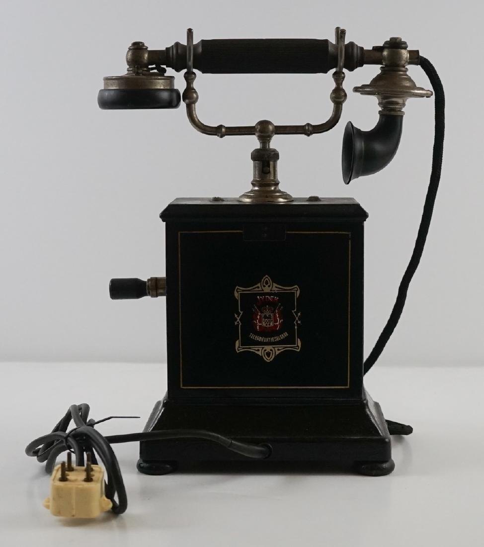 JYDSK Telefon Aktieselskab Vintage Crank Telephone - 5