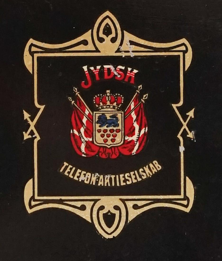 JYDSK Telefon Aktieselskab Vintage Crank Telephone - 6
