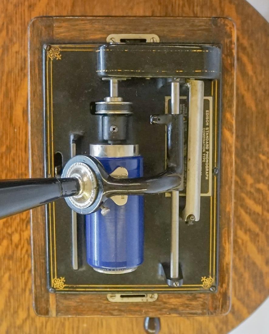 Oak Herzog Full Barrel Cylinder Record Cabinet - 4