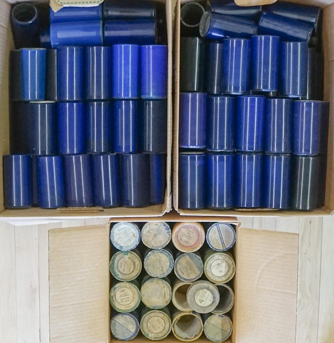 Oak Herzog Full Barrel Cylinder Record Cabinet - 5