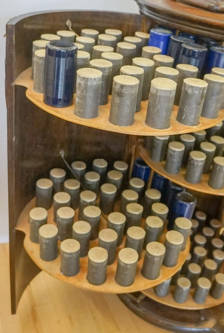 Oak Herzog Full Barrel Cylinder Record Cabinet - 6